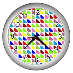 Pattern Wall Clock (Silver)