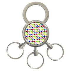 Pattern 3 Ring Key Chain
