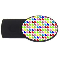 Pattern 1GB USB Flash Drive (Oval)