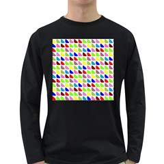 Pattern Men s Long Sleeve T-shirt (Dark Colored)