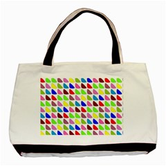 Pattern Twin-sided Black Tote Bag