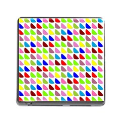 Pattern Memory Card Reader with Storage (Square)
