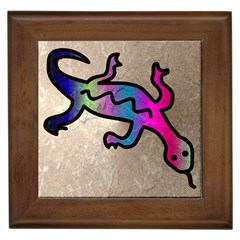 Lizard Framed Ceramic Tile