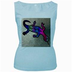Lizard Women s Tank Top (Baby Blue)