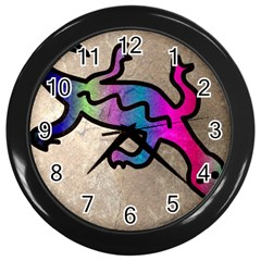 Lizard Wall Clock (Black)