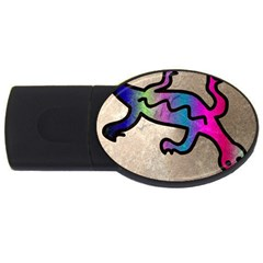 Lizard 2gb Usb Flash Drive (oval)