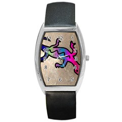 Lizard Tonneau Leather Watch
