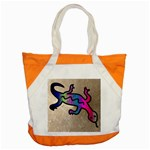 Lizard Accent Tote Bag Front