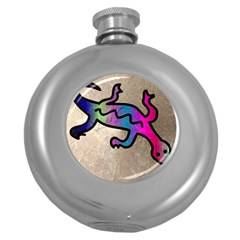 Lizard Hip Flask (round)