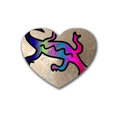 Lizard Drink Coasters 4 Pack (Heart)
