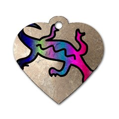 Lizard Dog Tag Heart (Two Sided)