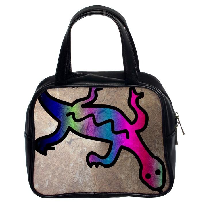 Lizard Classic Handbag (Two Sides)