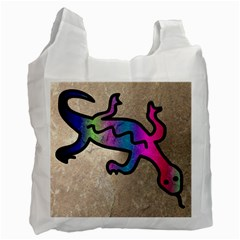 Lizard White Reusable Bag (Two Sides)