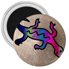 Lizard 3  Button Magnet