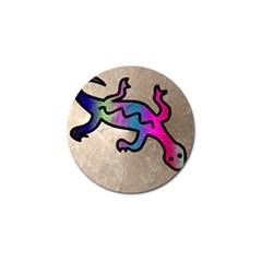 Lizard Golf Ball Marker 4 Pack