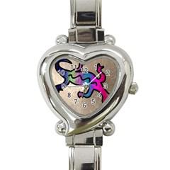Lizard Heart Italian Charm Watch