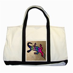 Lizard Two Toned Tote Bag