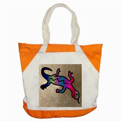 Lizard Accent Tote Bag