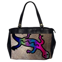Lizard Oversize Office Handbag (One Side)