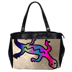 Lizard Oversize Office Handbag (Two Sides)
