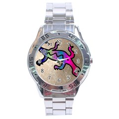 Lizard Stainless Steel Watch