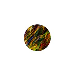 Abstract Smoke 1  Mini Button Magnet