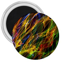 Abstract Smoke 3  Button Magnet