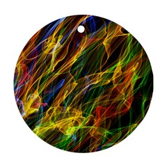 Abstract Smoke Round Ornament