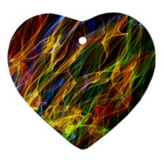 Abstract Smoke Heart Ornament