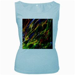 Abstract Smoke Women s Tank Top (Baby Blue)