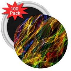 Abstract Smoke 3  Button Magnet (100 pack)