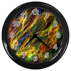 Abstract Smoke Wall Clock (black)