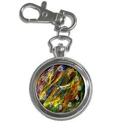 Abstract Smoke Key Chain Watch