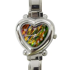 Abstract Smoke Heart Italian Charm Watch