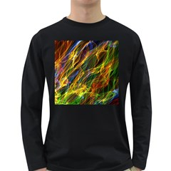Abstract Smoke Men s Long Sleeve T-shirt (Dark Colored)