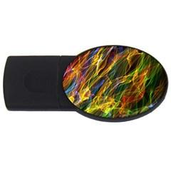 Abstract Smoke 4gb Usb Flash Drive (oval)