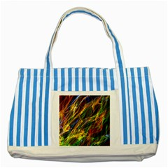 Abstract Smoke Blue Striped Tote Bag