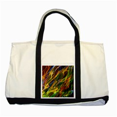 Abstract Smoke Two Toned Tote Bag