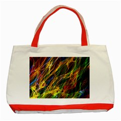 Abstract Smoke Classic Tote Bag (Red)