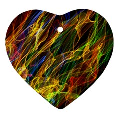 Abstract Smoke Heart Ornament (Two Sides)