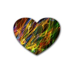 Abstract Smoke Drink Coasters 4 Pack (Heart)