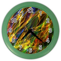 Abstract Smoke Wall Clock (Color)