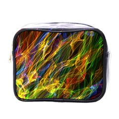 Abstract Smoke Mini Travel Toiletry Bag (one Side)