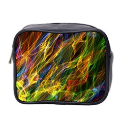 Abstract Smoke Mini Travel Toiletry Bag (Two Sides)