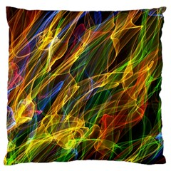 Abstract Smoke Large Cushion Case (two Sided)