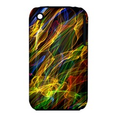 Abstract Smoke Apple Iphone 3g/3gs Hardshell Case (pc+silicone)
