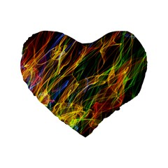 Abstract Smoke 16  Premium Heart Shape Cushion