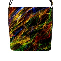 Abstract Smoke Flap Closure Messenger Bag (Large)