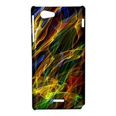 Abstract Smoke Sony Xperia J Hardshell Case