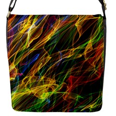 Abstract Smoke Flap Closure Messenger Bag (small)